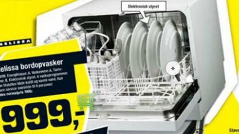 Tilbud på single-opvaskemaskine i Føtex