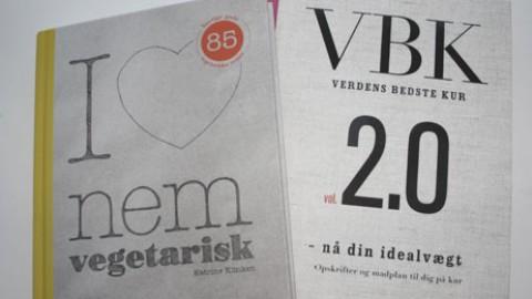 """Nye single-bøger: """"Verdens bedste kur 2″ og vegetarmad for singler"""
