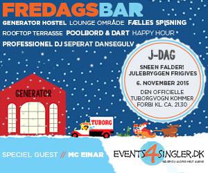 Fredagsbar og J-dag med Events4Singler.dk