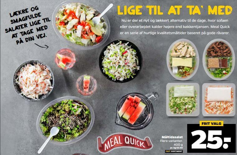 Takeaway-salater - også til singler